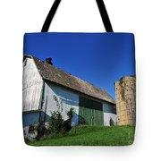 Vintage American Barn And Silo 1 Of 2 Tote Bag