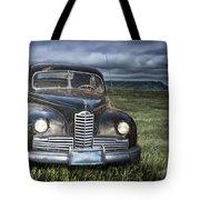 Vintage Auto On The Prairie Tote Bag