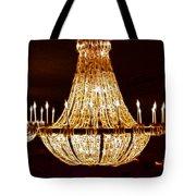Vintage Ballroom Chandalier Fractal Tote Bag