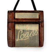 Vintage Bank Sign Tote Bag
