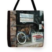 Vintage Bicycle And American Junk  Tote Bag