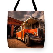 Vintage Bus  Tote Bag