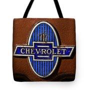 Vintage Chevrolet Emblem Tote Bag