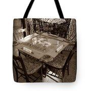 Vintage Domino Table Tote Bag