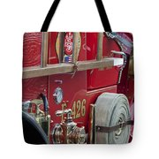 Vintage Fire Truck 2 Tote Bag