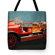 Vintage Fire Truck Tote Bag