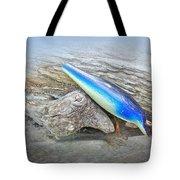 Vintage Fishing Lure - Floyd Roman Nike Blue And White Tote Bag