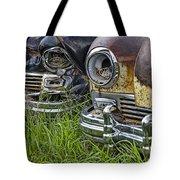 Vintage Frazer Auto Wreck Front Ends Tote Bag