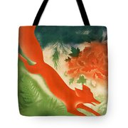 Vintage Hunting In The Ussr Travel Poster Tote Bag