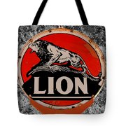 Vintage Lion Oil Sign Tote Bag