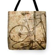 Vintage Looking Bicycle On Brick Pavement Tote Bag