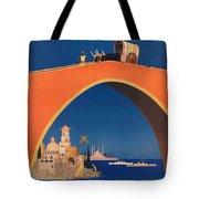 Vintage Mediterranean Travel Poster Tote Bag