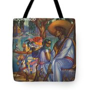 Vintage Mexico Travel Poster Tote Bag