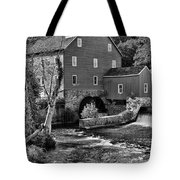 Vintage Mill In Black And White Tote Bag