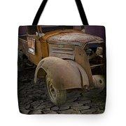 Vintage Pickup On Parched Earth Tote Bag