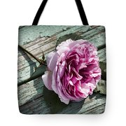 Vintage Pink English Rose And Peeling Paint Tote Bag