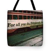 Vintage Pittsburgh Trolly Tote Bag