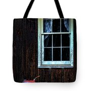 Vintage Porch Window And Gas Can Tote Bag