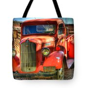 Vintage Red Dodge Tote Bag