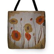 Vintage Red Poppies Painting Tote Bag