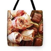Vintage Roses And Chocolates Painterly Tote Bag