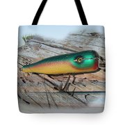Vintage Saltwater Fishing Lure - Masterlure Rocket Tote Bag