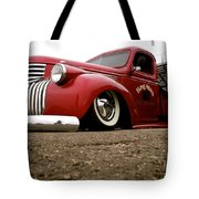 Vintage Style Hot Rod Truck Tote Bag