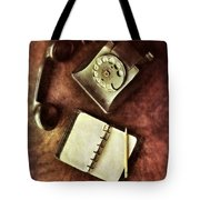 Vintage Telephone And Notebook. Tote Bag