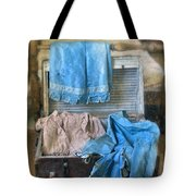Vintage Trunk With Ladies Clothing Tote Bag