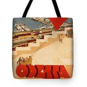 Vintage Ukraine Travel Poster Tote Bag