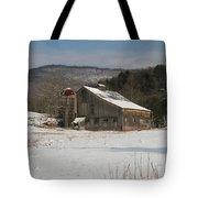 Vintage Weathered Wooden Barn Tote Bag