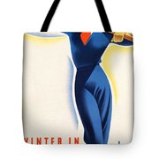 Vintage Winter In Austria Travel Poster Tote Bag