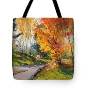 Viola In A Nice Autumn Day  Tote Bag