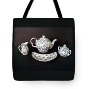 Viola Teapot With Creamer And Sugar Bowl Tote Bag