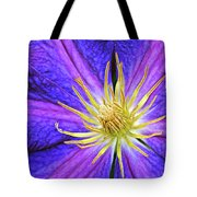 Violet Clematis Tote Bag