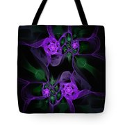 Violet Floral Edgy Abstract Tote Bag