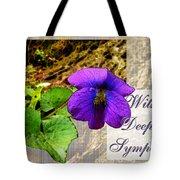 Violet Greeting Card  Sympathy Tote Bag