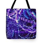 Violet Neon Lights Tote Bag
