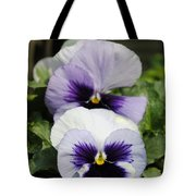 Violet Pansies Flower Tote Bag