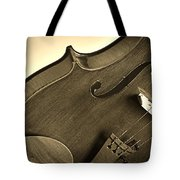 Violin Isolated Tote Bag