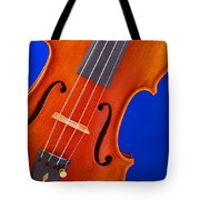 Violin Isolated On Blue Tote Bag