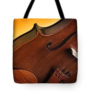 Violin Isolated On Gold Tote Bag
