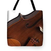 Violin Isolated On White Tote Bag