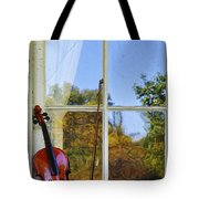 Violin On A Window Sill Tote Bag