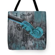 Violinelle - Turquoise 04d2 Tote Bag by Variance Collections