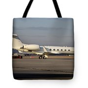 Vip Jet C-37a Of Supreme Headquarters Tote Bag by Timm Ziegenthaler