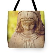 Virgin Mary Statue Tote Bag