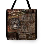 Virginia City Nevada Grunge Poster Tote Bag