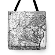 Virginia: Map, C1784 Tote Bag