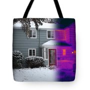 Visible And Infrared Image Of A House Tote Bag